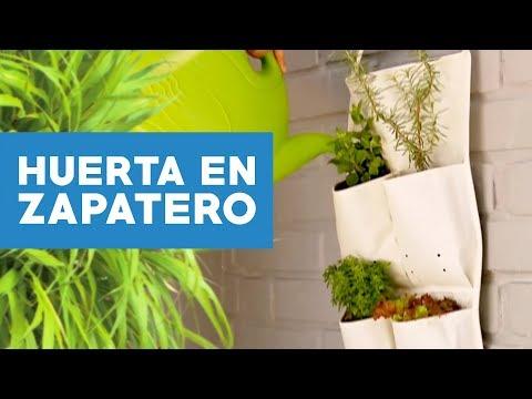 Como hacer una huerta en zapatero youtube for Jardin vertical sodimac