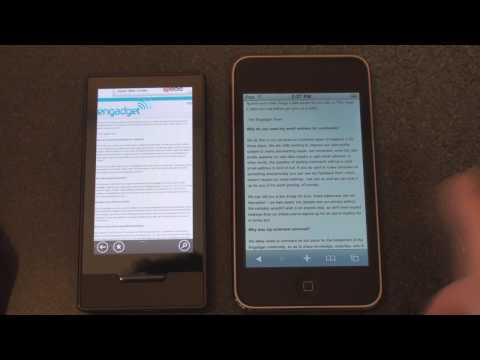 Browser Wars: Zune HD v. iPod Touch