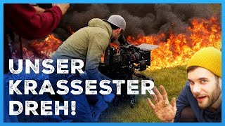 Unser krassester Dreh! (EXPLOSIONEN) - Making of Camp Fett Weg