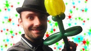 Тюльпан из шариков шдм аэродизайн цветы ★ flower from a balloon Tulip