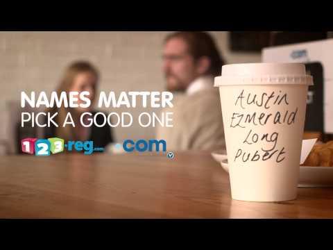 Names matter - Find a great .COM domain at 123-reg