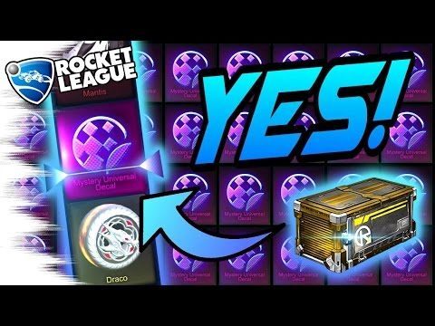 NEW MYSTERY DECAL & MORE! - BEST NITRO Rocket League Crate Opening (Bubbly/Spectre, Mantis, Draco)