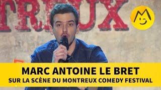 Marc Antoine Le Bret  sur la scène du Montreux Comedy Festival