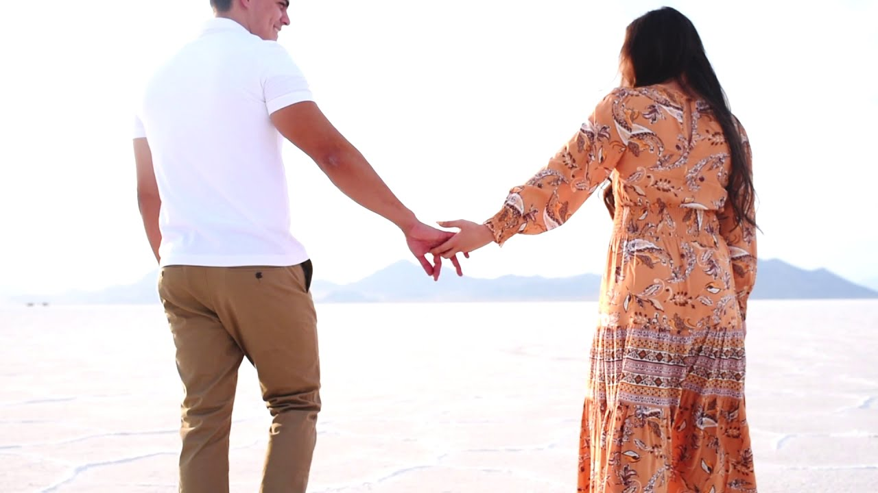 Liz + Diego Bonneville Salt Flats Engagement Video | Salt Lake City Videographer