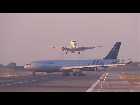 [FULL HD] UTair Aviation 767-300 NEAR MISS? GO AROUND at Bar