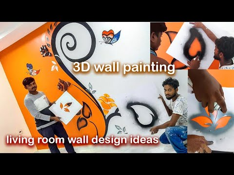 3D Wall Painting Design Ideas For Living Room