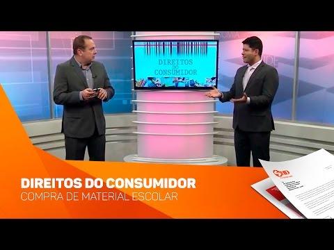 Quadro Direitos do Consumidor Compra Material Escolar - TV SOROCABA/SBT