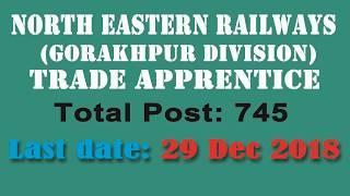 NER Apprentice 2018 || रेलवे (NER) गोरखपुर में बम्पर भर्ती || Apply Now || ITI or High School
