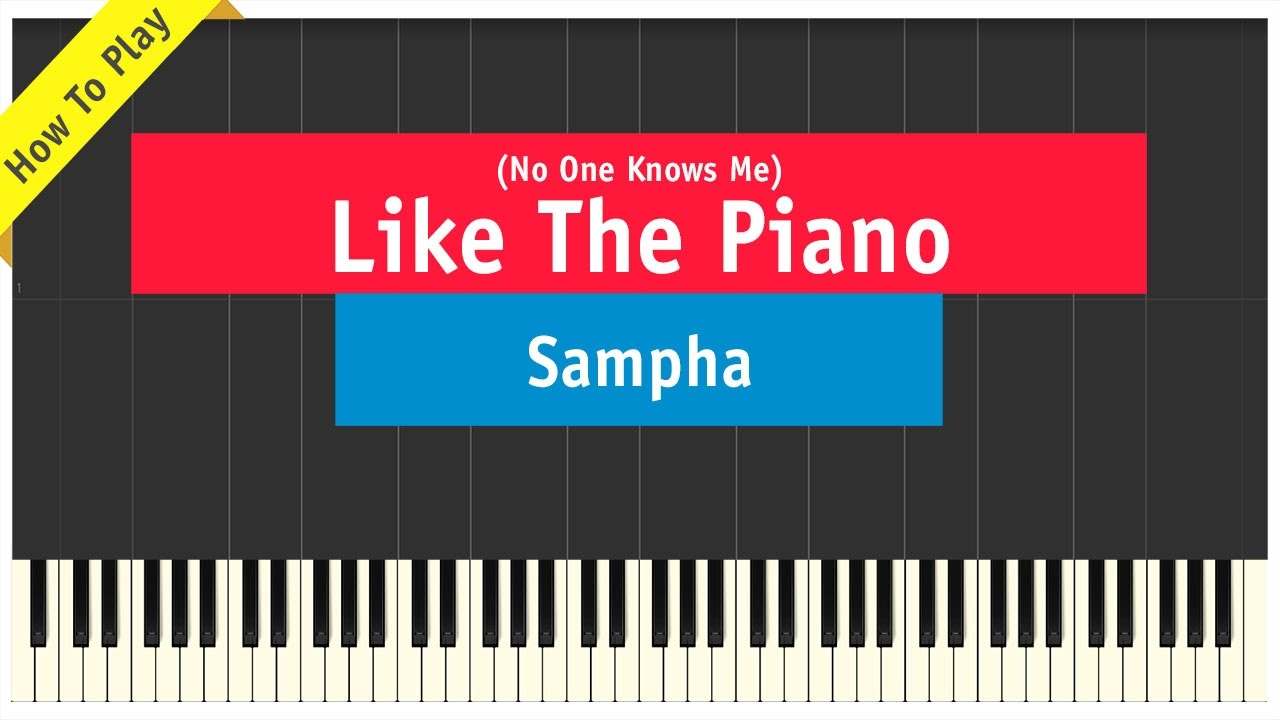Sampha   No One Knows Me Like The Piano   How To Play Tutorial