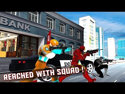 Bank Robbery Heist Superhero Grand Gangsters Chase Android Gameplay HD