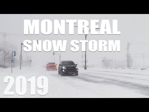 First Major Snow Storm Of 2019 | Montreal, QC, Canada
