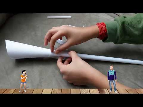 How to make a trumpet out of paper || DIY trumpet || How to make a paper horn