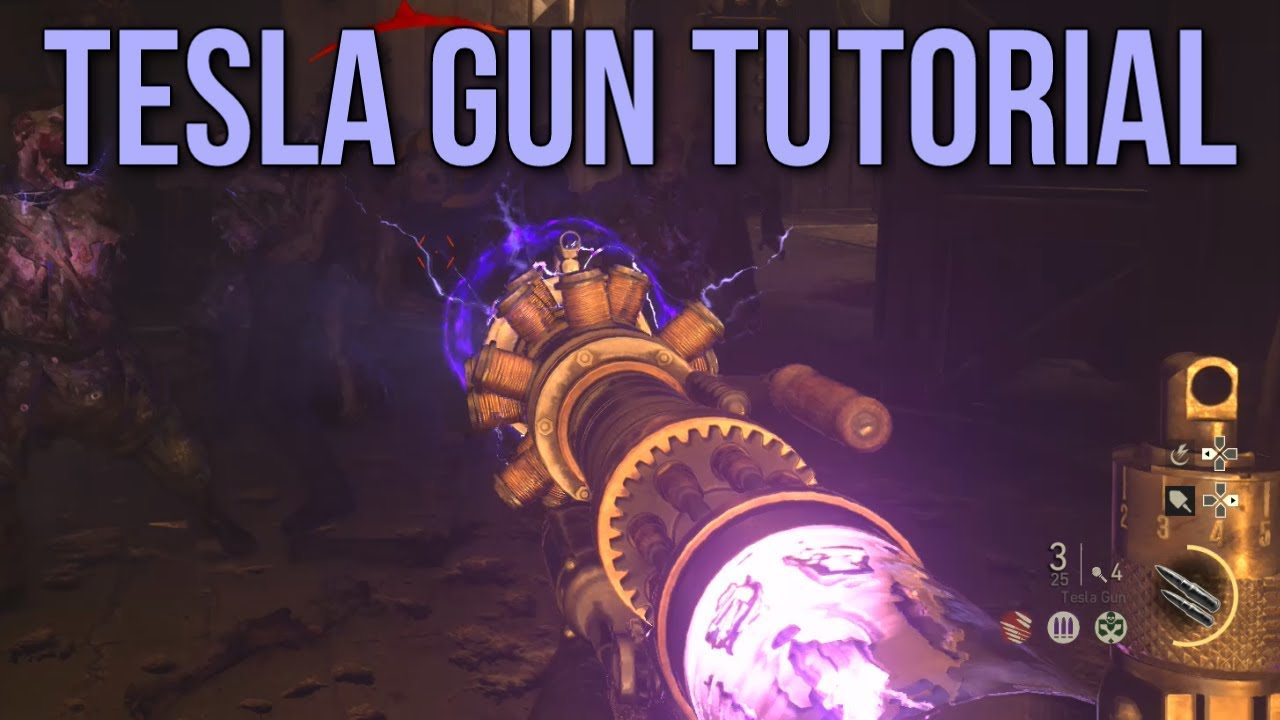Tesla Gun Tutorial (Call of Duty: WW2 Zombies Gameplay & Easter Egg  Tutorial)