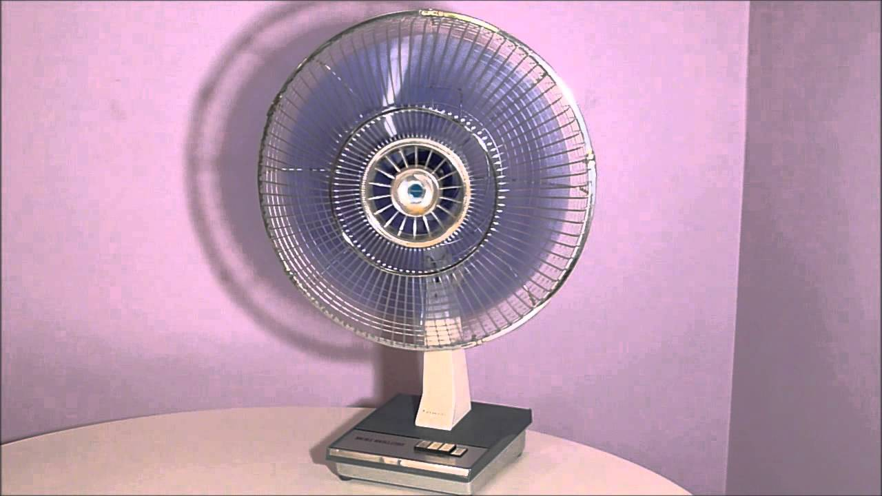 Panasonic Table Fan : Vintage panasonic f double oscillating desk fan youtube