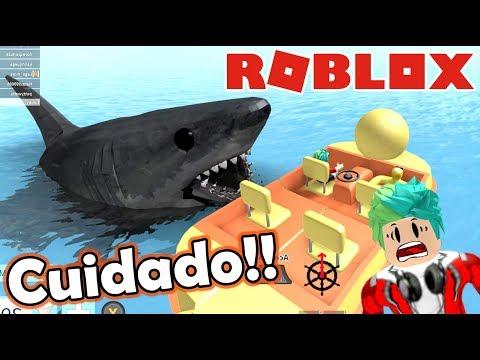 Me Come un Tiburon   SharkBite en Roblox   Juegos Roblox Karim Juega