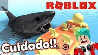 Me Come un Tiburon | SharkBite en Roblox | Juegos Roblox Karim Juega
