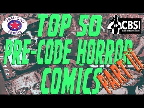 Top 50 Pre-Code Horror Comics: Part II (20 -1)