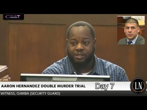 Aaron Hernandez Trial Day 7 Part 1 (Security Guard Testifies) 03/09/17