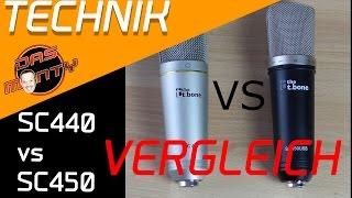 t.bone sc 450 USB + T-bone sc 440 Review Test Mikrofon für Youtube und Lets Play Deutsch Das Monty