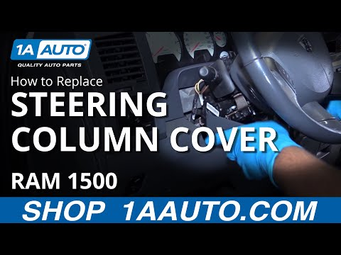 How to Remove Steering Column Cover 02-08 Dodge Ram