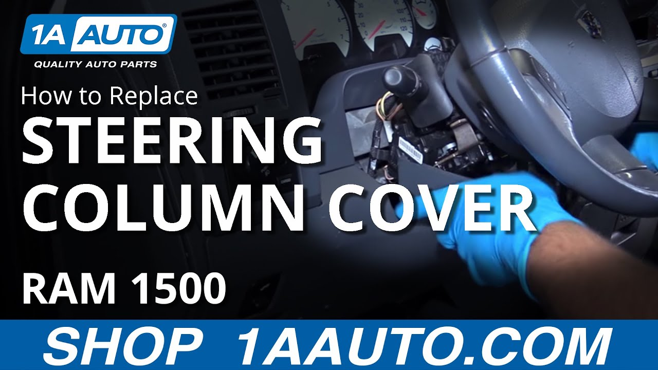 How to Remove Steering Column Cover 0208 Dodge Ram  YouTube