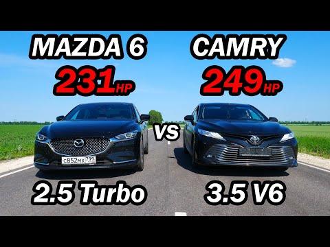Новая CAMRY 3.5 vs Новая MAZDA 6 2.5T и BMW 320D G20 St 1 ГОНКИ.