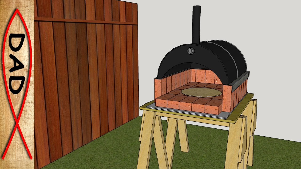 Diy Backyard Wood Fired Brick Pizza Oven Youtube