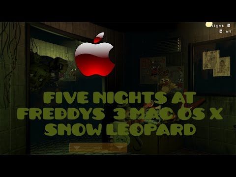 FNAF 3 MAC GAMEPLAY