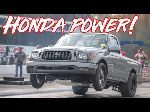 K24 Swap Toyota Tacoma Truck Beats Everyone - Wins $5000!