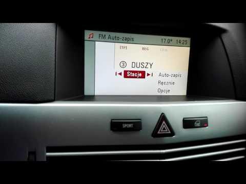 Astra H 2009 radio DVD90 menu i BC po PL