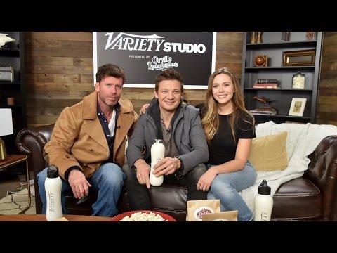 Jeremy Renner and Elizabeth Olsen on 'Wind River' at Sundance