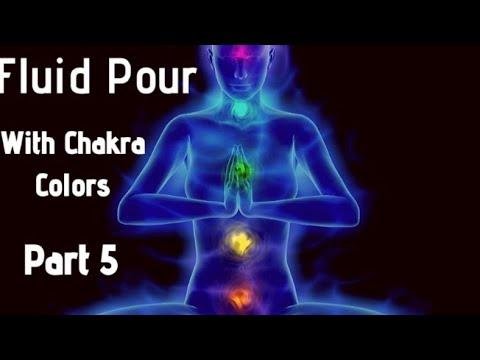 Acrylic Fluid Pour With Chakra Colors Part 5