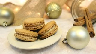 Gingerbread Latte Macarons (macaron Monday Ep.5 - Christmas Special Part 2)   Josh Pan