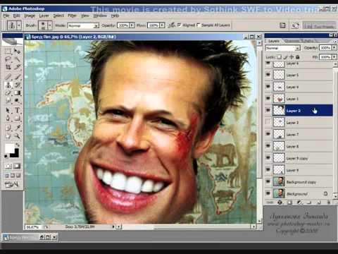 Урок Photoshop.  Шарж  Часть 2 из 2
