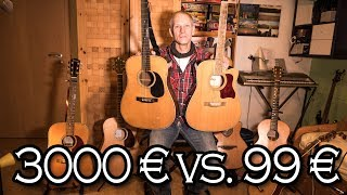 Gitarren-Vergleich TEUER VS. BILLIG
