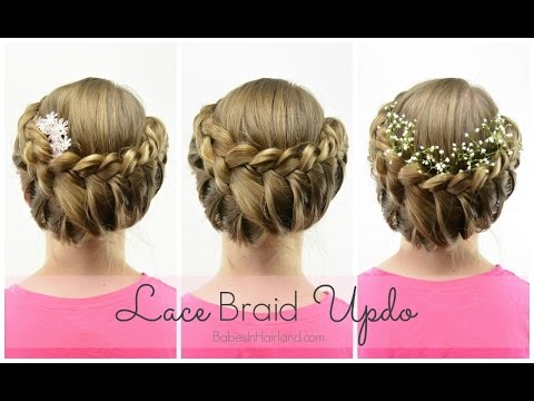 Lace Braid Updo Wedding/Flower Girl Hairstyle