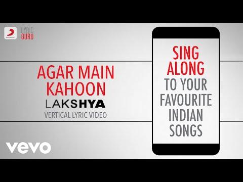 Agar Main Kahoon - Lakshya|Official Bollywood Lyrics|Udit Narayan|Alka Yagnik Mp3