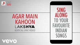 Agar Main Kahoon - Lakshya|Official Bollywood Lyrics|Udit Narayan|Alka Yagnik