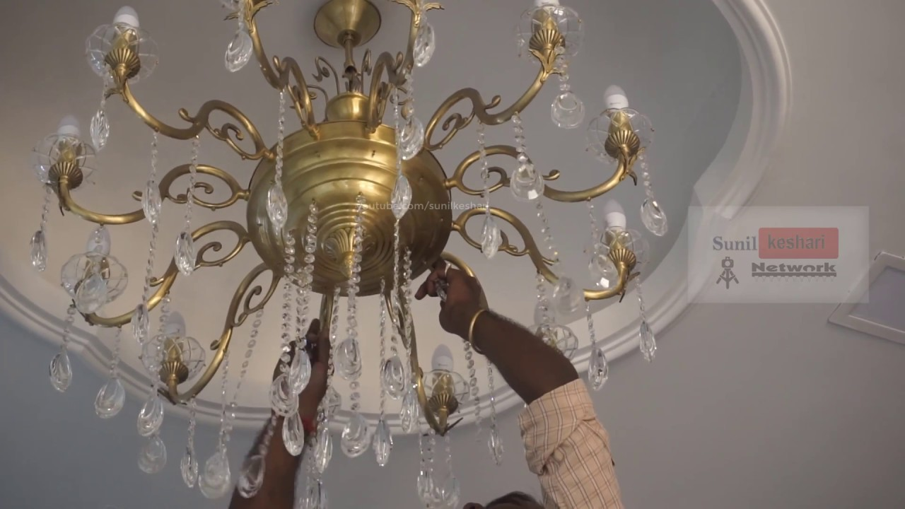 How to unbox and installing chandelier or jhumar at home