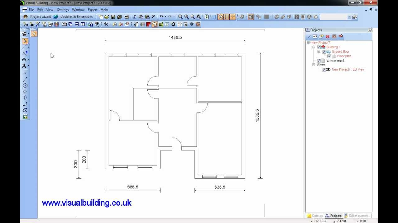 Visual Building Tutorial Import Scanned 2d Plan