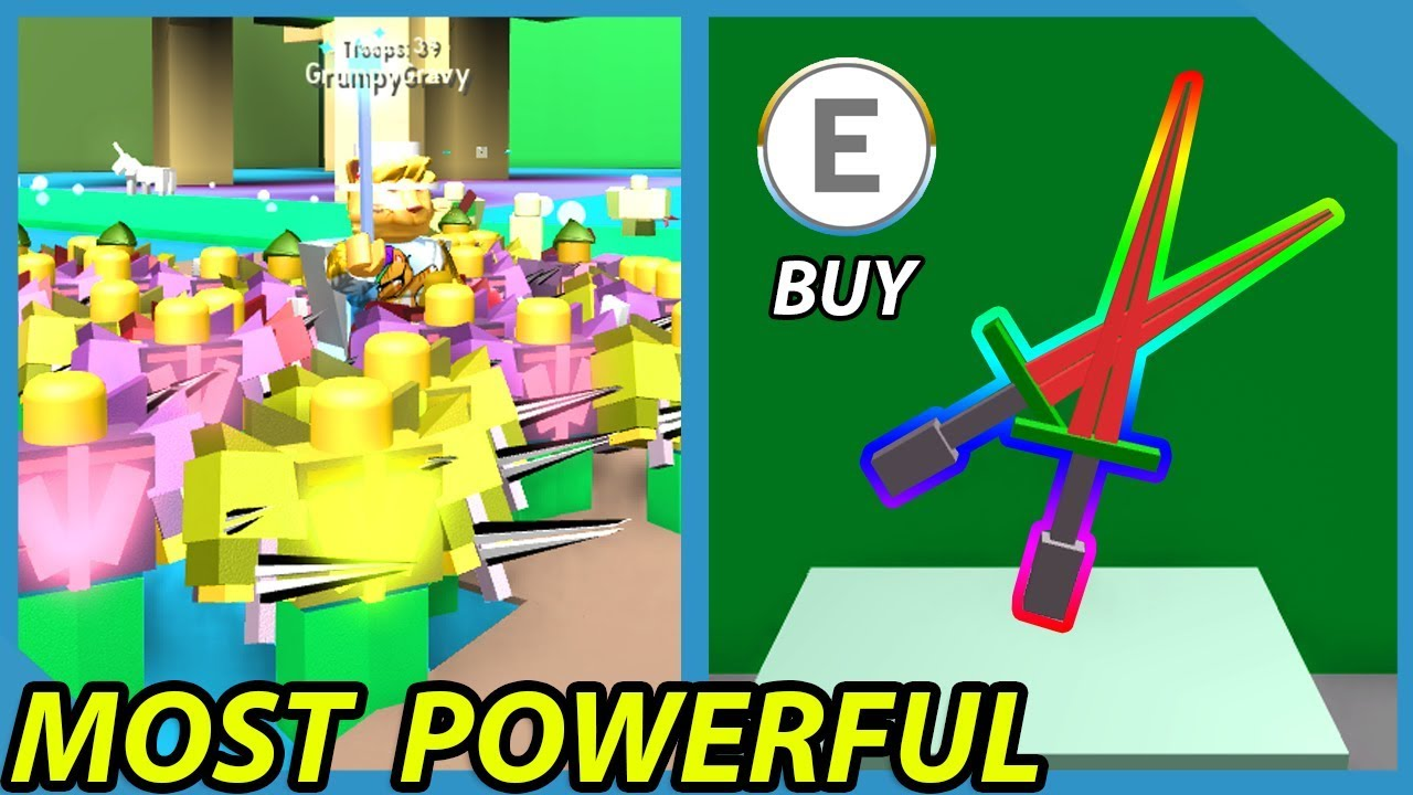 Buying The Strongest Sword In Roblox Army Control Simulator - Buying The Strongest Sword In Roblox Army Control Simulator