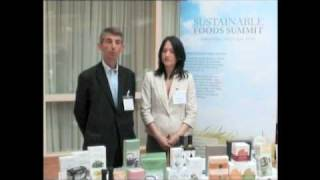 Christopher Dawson & Maria Furugori, Clearspring, Sustainable Foods Summit EU 2010
