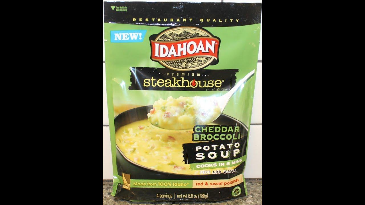 Idahoan Steakhouse Cheddar Broccoli Potato Soup Review