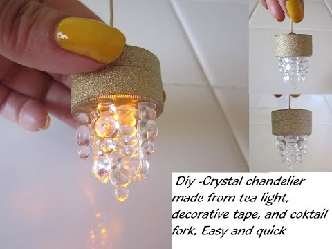 Diy How To Make A Miniature Led Light Pendant For Dollhouse Chandelier