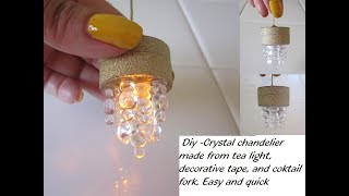 DIY how to make a Miniature Led Light pendant for dollhouse - Dollhouse chandelier