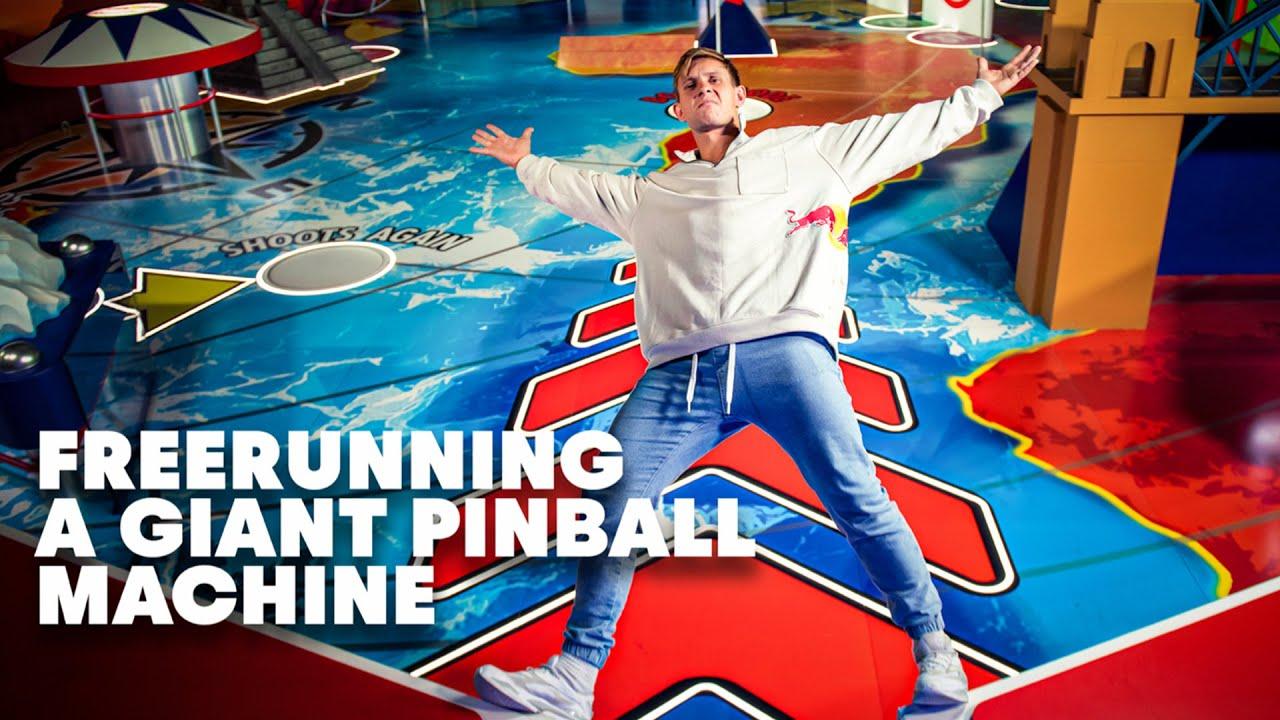 Freerunning In The World's Biggest Pinball Machine