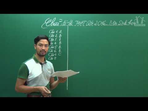Hướng dẫn giải đề Sinh THPT QG 2016 - Thầy Nguyễn Thành Công