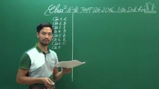 Đề thi THPTQG 2016 - Thầy Nguyễn Thành Công - Hướng dẫn giải đề Sinh học