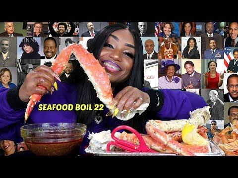 Seafood Boil 22 King Crab Leg, Tiger Shrimp Mukbang