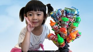Surprise Eggs Unboxing With Toys And Candy – Trò Chơi Bóc Trứng Bất Ngờ ❤ AnAn ToysReview TV ❤